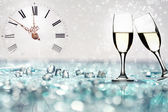 Glasses of shots on abstract background — Stock Photo