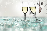 Glasses with champagne — Stock Photo