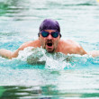 Swimmer performing the butterfly stroke — Stock Photo #38925309
