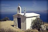 White chapel in Grece — Stock Photo