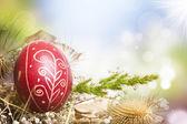 红色的复活节彩蛋 — 图库照片