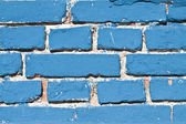 Blue brick background — Stock Photo