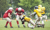 American football match — Stock Photo