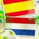 Spain vs Netherlands soccer ball concept — Stock Photo #47577331