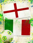 England vs Italy soccer ball concept — Stock Photo