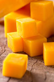 Cheese cubes — Stock Photo