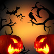 Scary Halloween background — Stock Photo