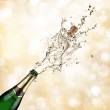 Champagne explosion — Stock Photo