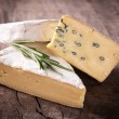Stock Photo: Various types of cheese