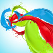 Colored paint splashes — Stock Photo #13408311