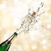 Esplosione di champagne — Foto Stock