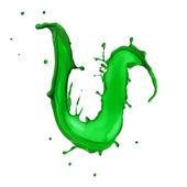 Green Liquid alphabet letter U — Stock Photo