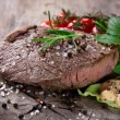 Grilled 500g bbq steak - Stock Photo