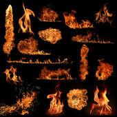 Coleção de chamas de fogo — Foto Stock