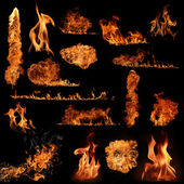 Fire flame collection — Stock Photo