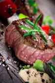 Medium grilled bbq steak — Stock Photo