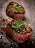 Grilled bbq steaks — Stockfoto