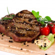 Grilled bbq steaks - Stockfoto