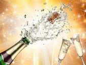 Champagne explosión — Foto de Stock