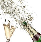 şampanya patlama — Stok fotoğraf