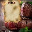 Grilled beef steaks - Stock Photo