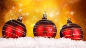 Röda julgranskulor — Stockfoto