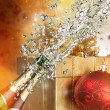 Champagne explosion - Stock Photo