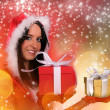 Beautiful santa girl — Stock Photo