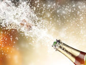 Champagne explosion — Stockfoto