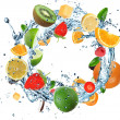Fruit in water ring — Stock Photo #14334947