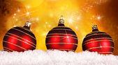 Boules de Noël rouges — Photo