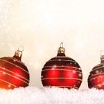 Red christmas balls — Stock Photo #14702855