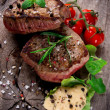 Grilled bbq steaks — Stock Photo #14703035