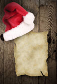 Old paper with christmas inducement — Stock Photo
