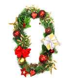 Christmas Alphabet Number 0 — Stock Photo