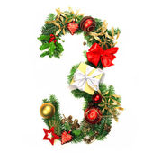 Christmas Alphabet Number 3 — Stock Photo