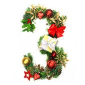 Christmas Alphabet Number 3 — Stock Photo