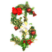 Christmas Dollar symbol — Stock Photo