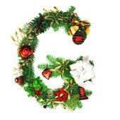 Christmas Alphabet Letter — Stock Photo