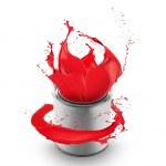 Colored paint splash — Stock Photo