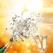 Stock Photo: Champagne explosion