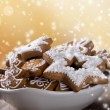 Traditional gingerbread cookies — Foto de Stock