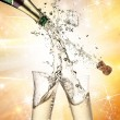 Royalty-Free Stock Photo: Close-up of champagne explosion