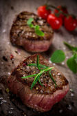 Grilled bbq steaks — Stock Photo