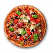 läcker italiensk pizza — Stockfoto #20136185