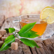 Cup of green tea - Stockfoto