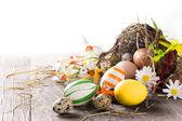 Coloridos huevos de pascua — Foto de Stock