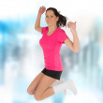 Fitness woman jumping — Stock Photo