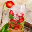Strawberry Mojito cocktail — Stock Photo