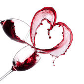 Red wine heart — Photo